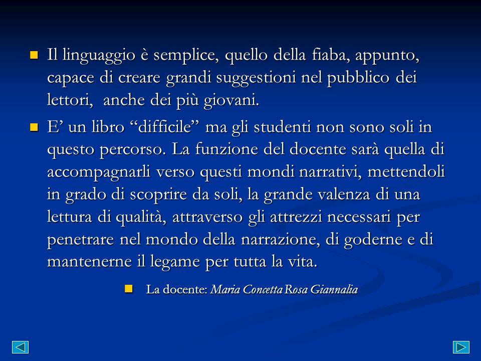 La docente: Maria Concetta Rosa Giannalia