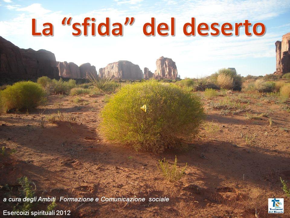 La sfida del deserto a cura degli Ambiti Formazione e Comunicazione sociale.