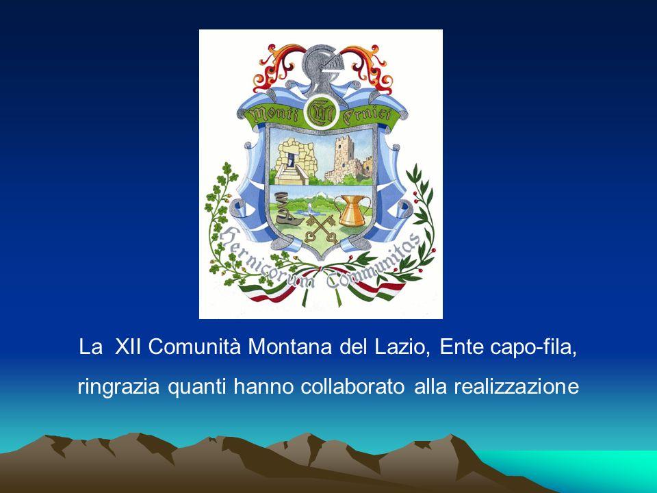 La XII Comunità Montana del Lazio, Ente capo-fila,