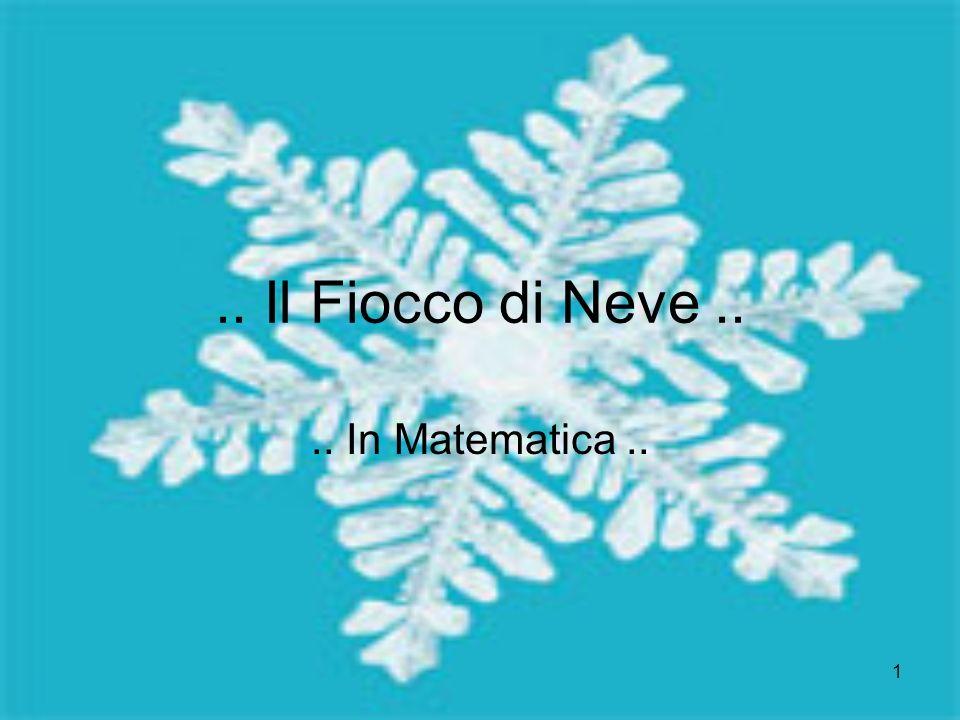 .. Il Fiocco di Neve .. .. In Matematica ..