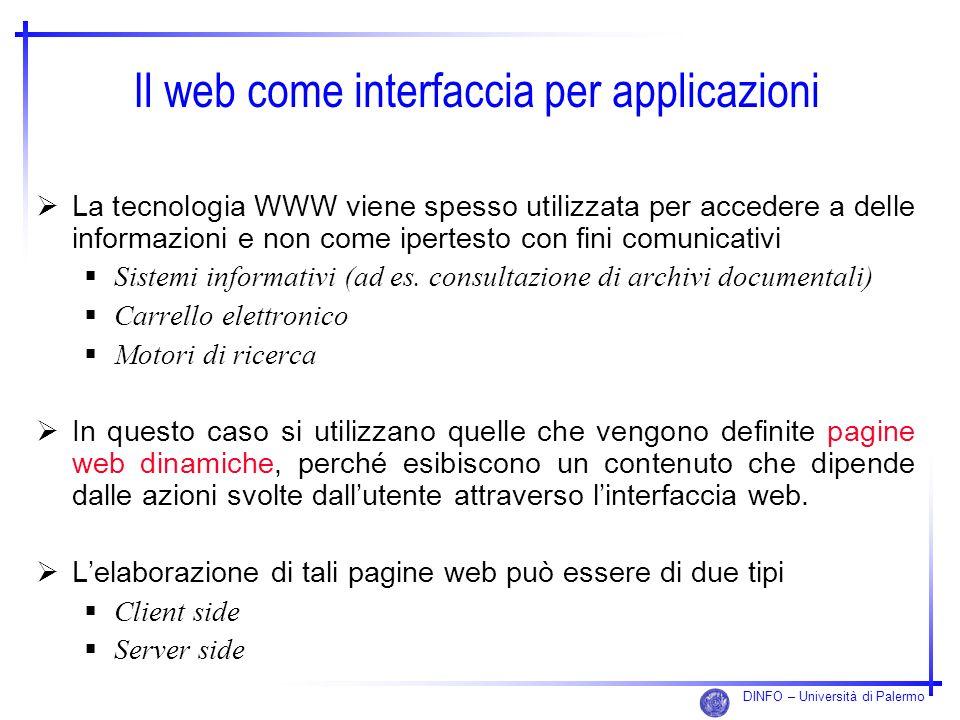 Il web come interfaccia per applicazioni