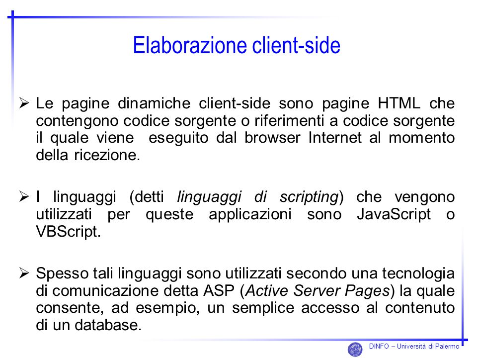 Elaborazione client-side