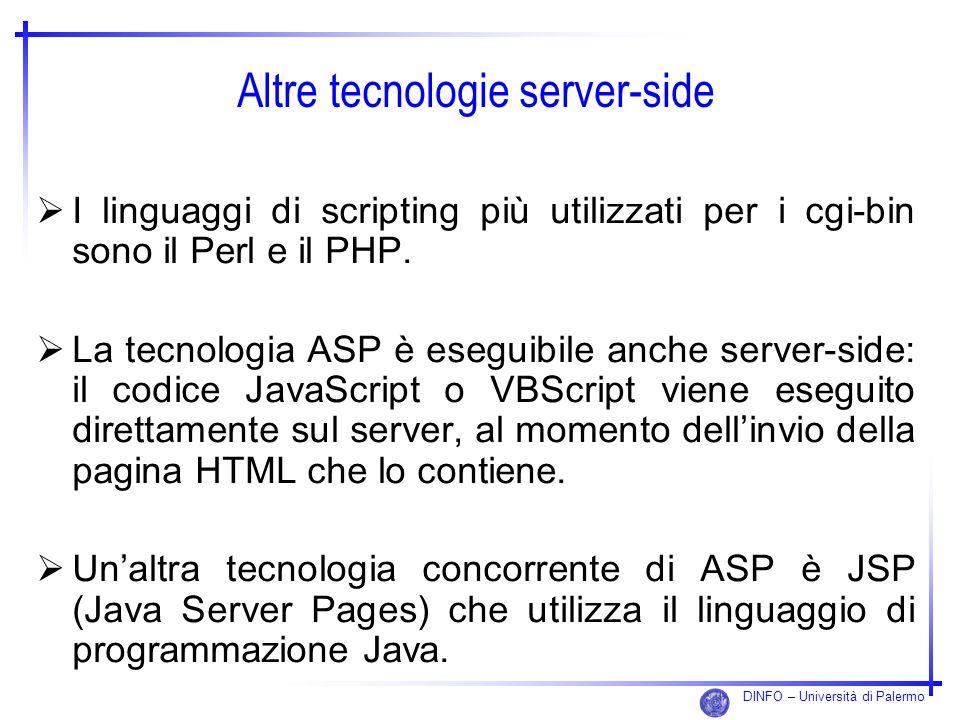 Altre tecnologie server-side