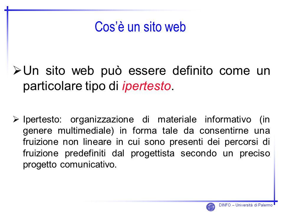 Cos'è un sito webUn sito web può essere definito come un particolare tipo di ipertesto.