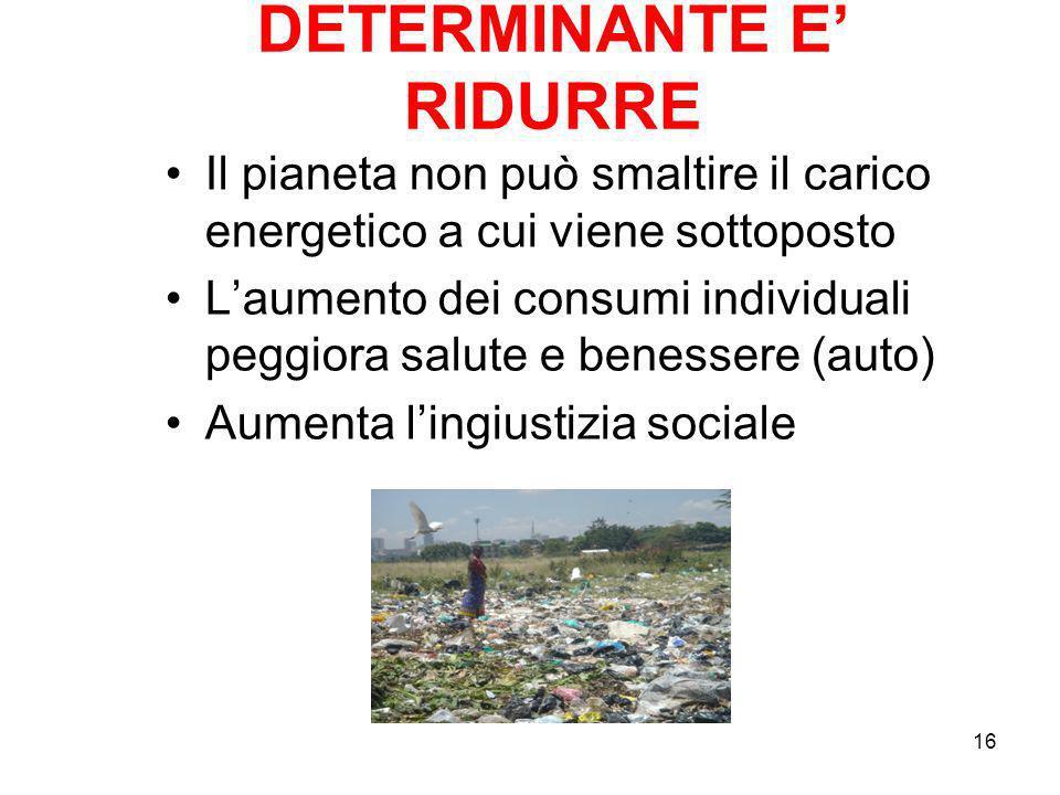DETERMINANTE E' RIDURRE