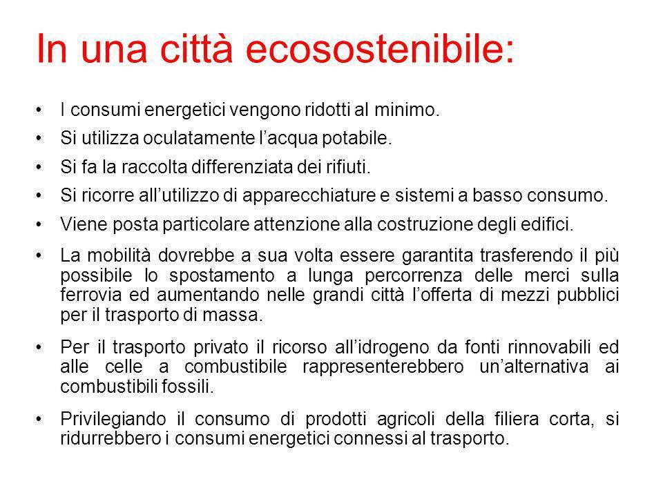In una città ecosostenibile: