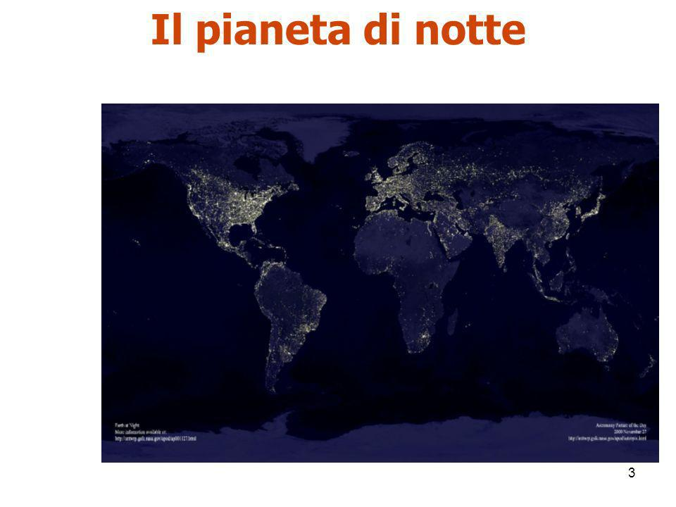 Il pianeta di notte