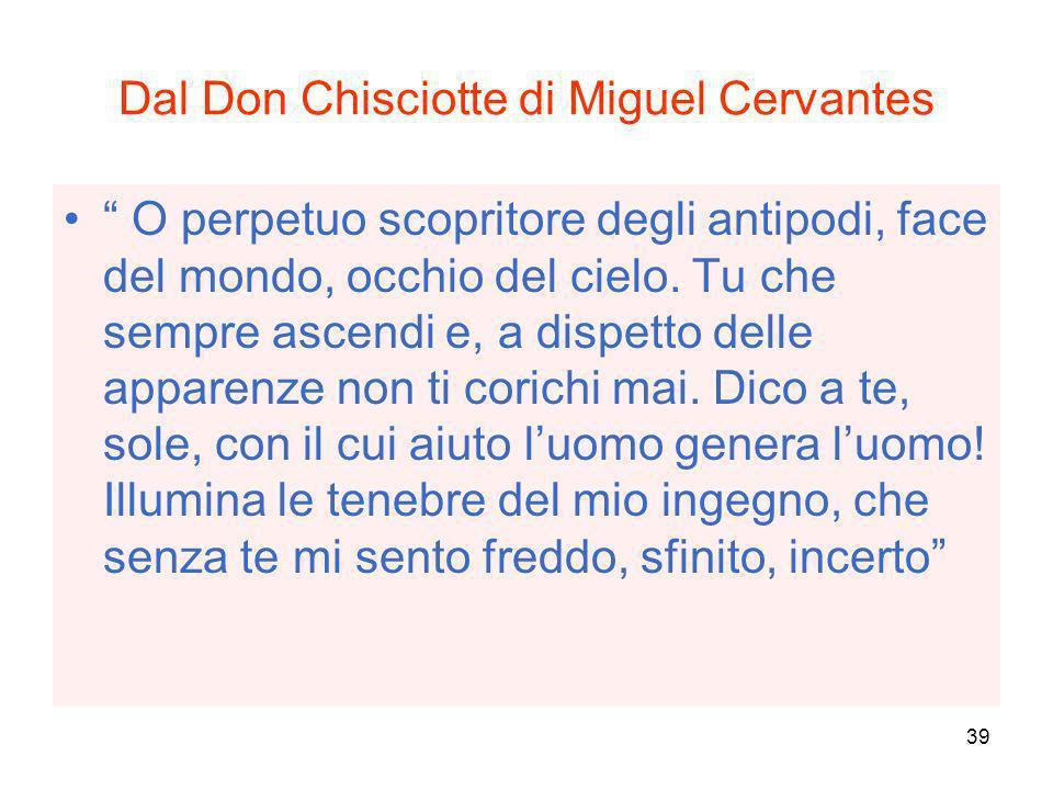 Dal Don Chisciotte di Miguel Cervantes