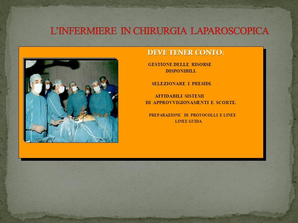 L'INFERMIERE IN CHIRURGIA LAPAROSCOPICA