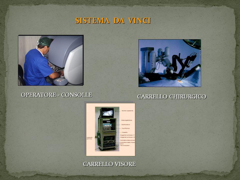 SISTEMA DA VINCI OPERATORE - CONSOLLE CARRELLO CHIRURGICO