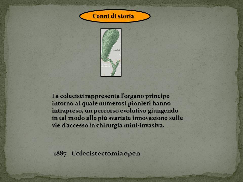 1887 Colecistectomia open Cenni di storia