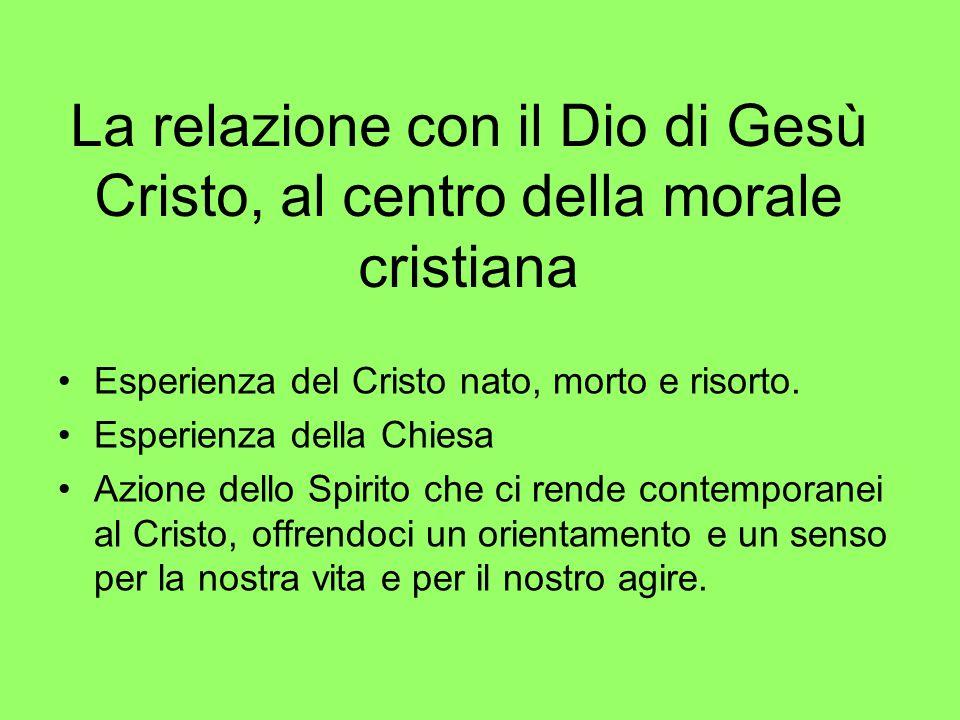 La relazione con il Dio di Gesù Cristo, al centro della morale cristiana