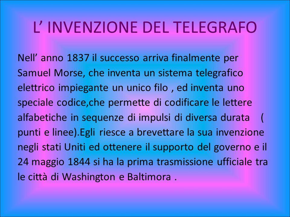 L' INVENZIONE DEL TELEGRAFO
