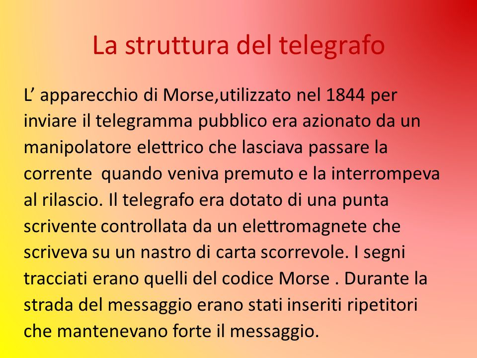 La struttura del telegrafo