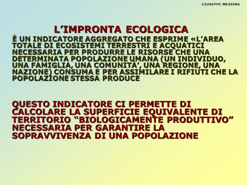 GIUSEPPE MESSINA L'IMPRONTA ECOLOGICA.