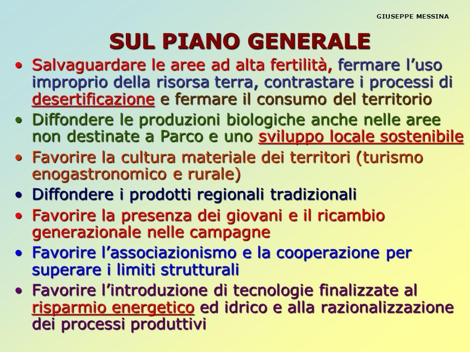 SUL PIANO GENERALE