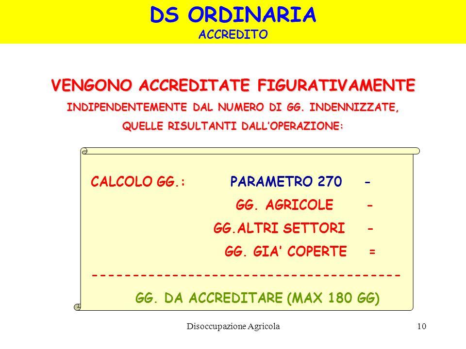 DS ORDINARIA VENGONO ACCREDITATE FIGURATIVAMENTE