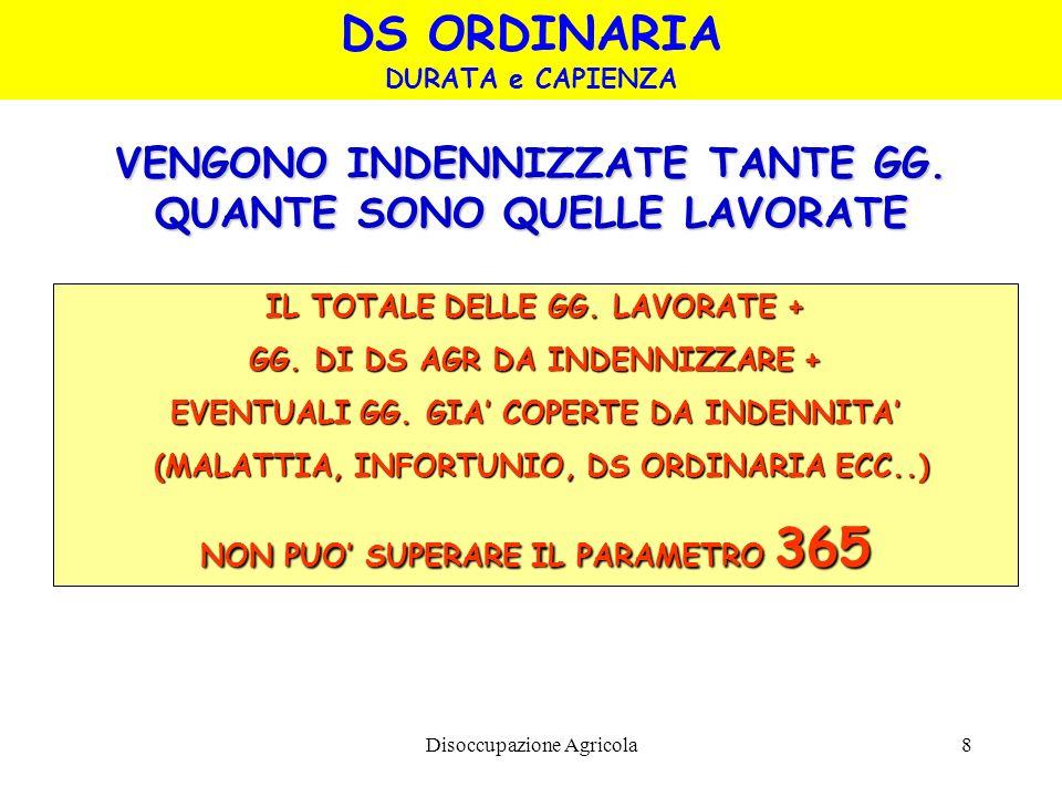 DS ORDINARIA VENGONO INDENNIZZATE TANTE GG.