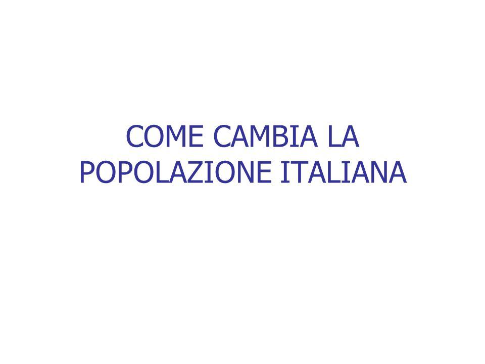 COME CAMBIA LA POPOLAZIONE ITALIANA