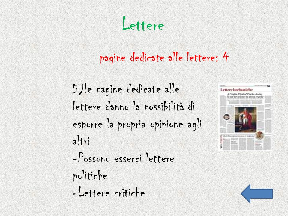 Lettere pagine dedicate alle lettere: 4