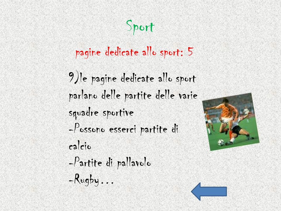 Sport pagine dedicate allo sport: 5