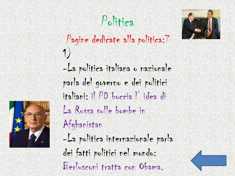 Politica Pagine dedicate alla politica:7 1)