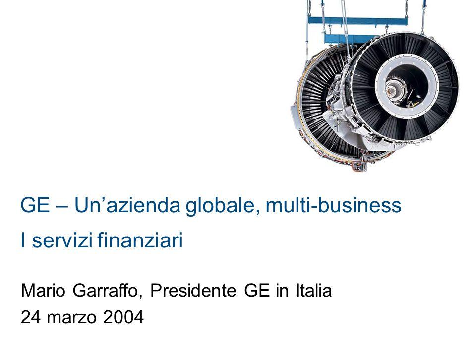 GE – Un'azienda globale, multi-business I servizi finanziari