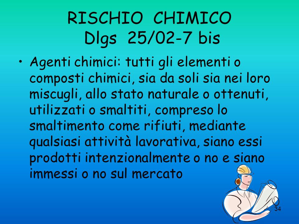 RISCHIO CHIMICO Dlgs 25/02-7 bis