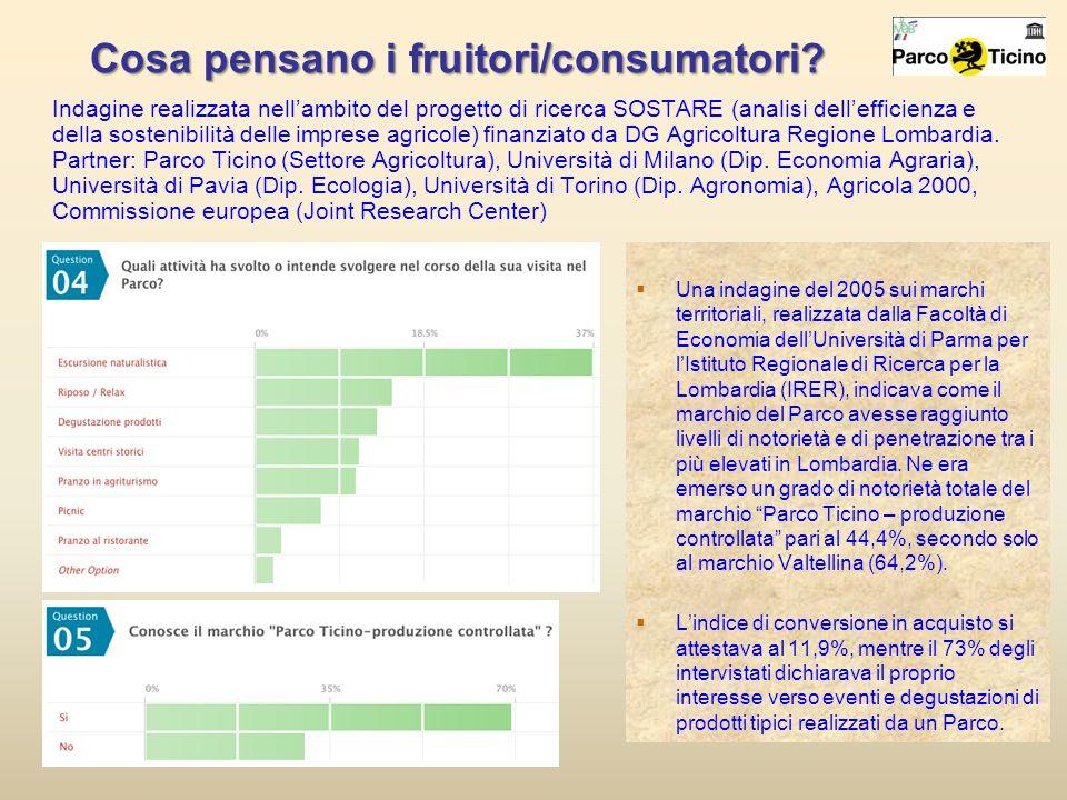 Cosa pensano i fruitori/consumatori