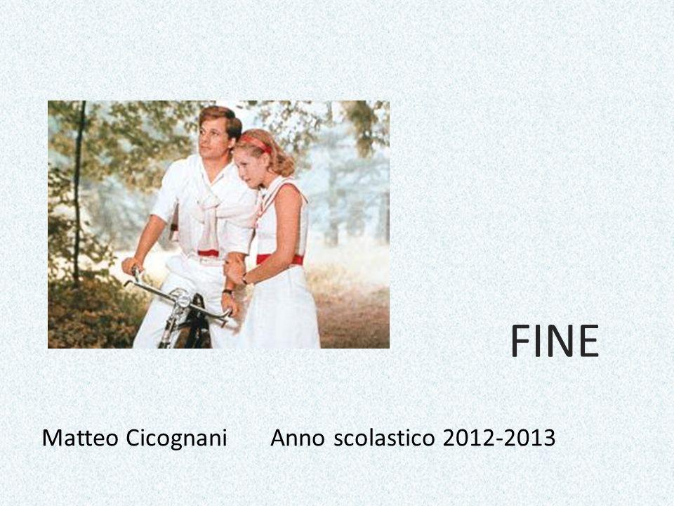 FINE Matteo Cicognani Anno scolastico 2012-2013