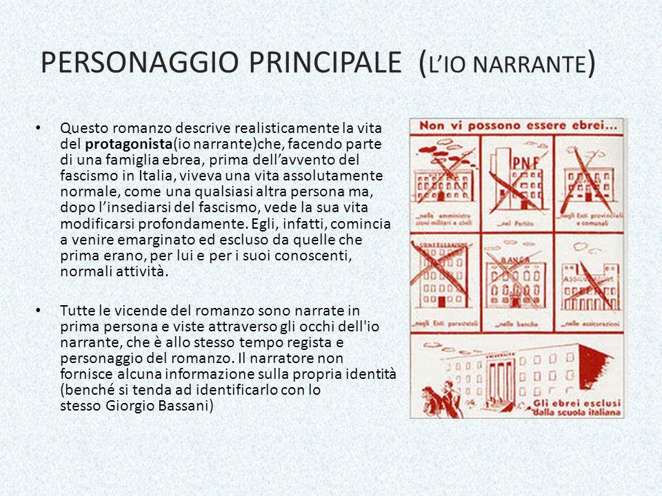 PERSONAGGIO PRINCIPALE (L'IO NARRANTE)
