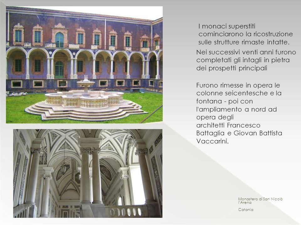 I monaci superstiti cominciarono la ricostruzione sulle strutture rimaste intatte.