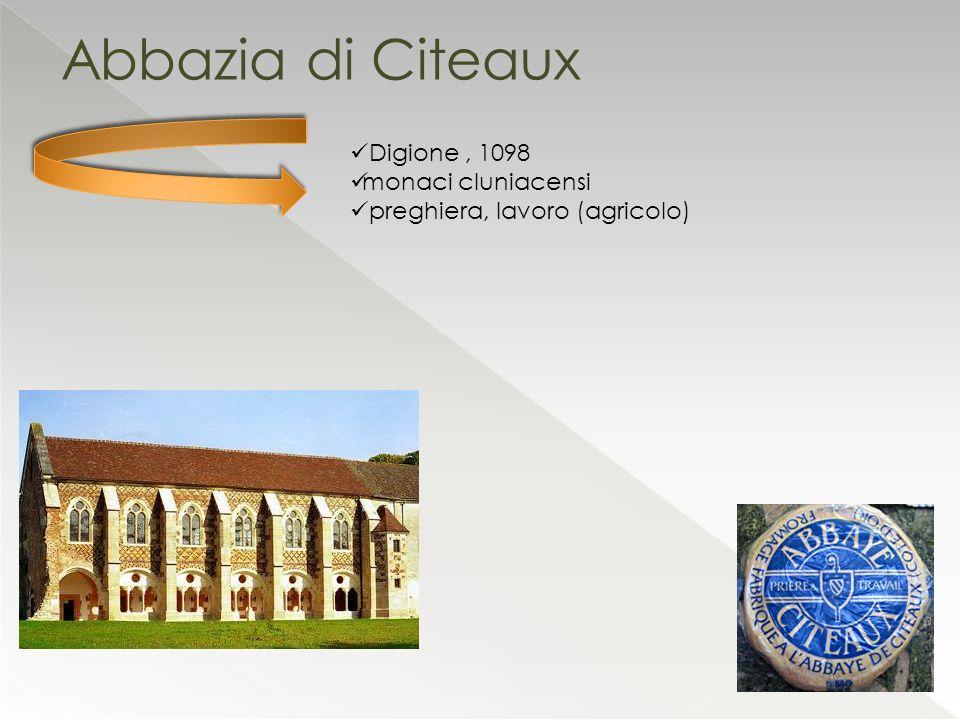 Abbazia di Citeaux Digione , 1098 monaci cluniacensi