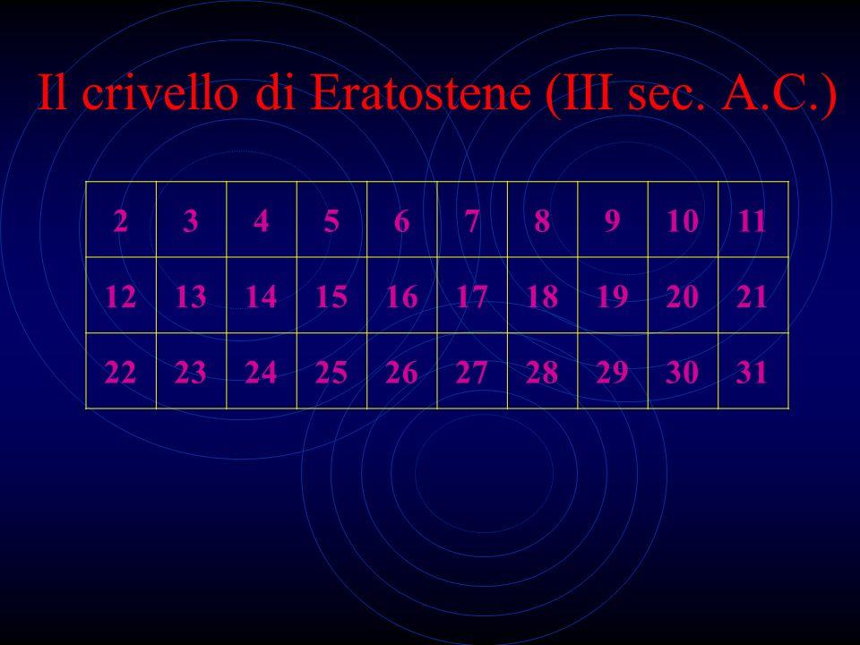 Il crivello di Eratostene (III sec. A.C.)