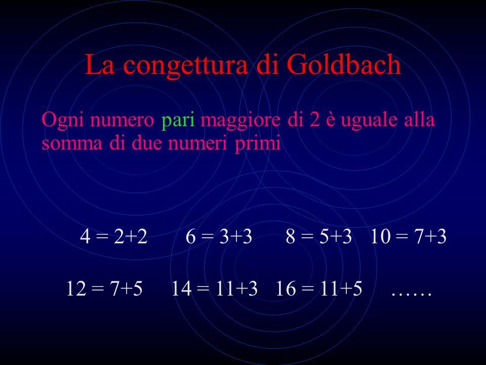 La congettura di Goldbach