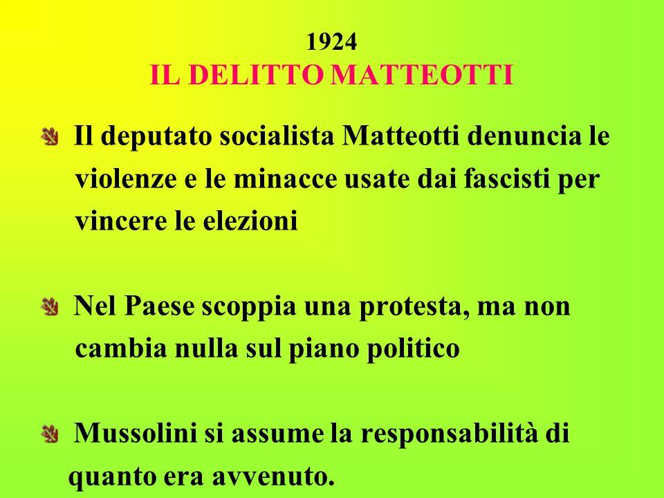 Il deputato socialista Matteotti denuncia le