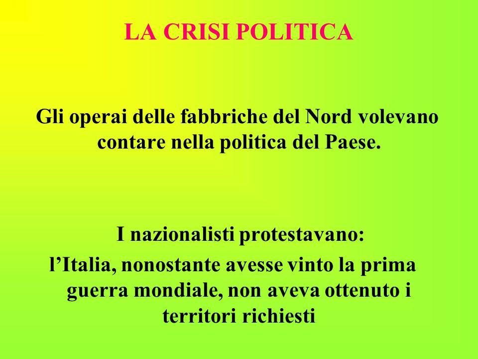 I nazionalisti protestavano: