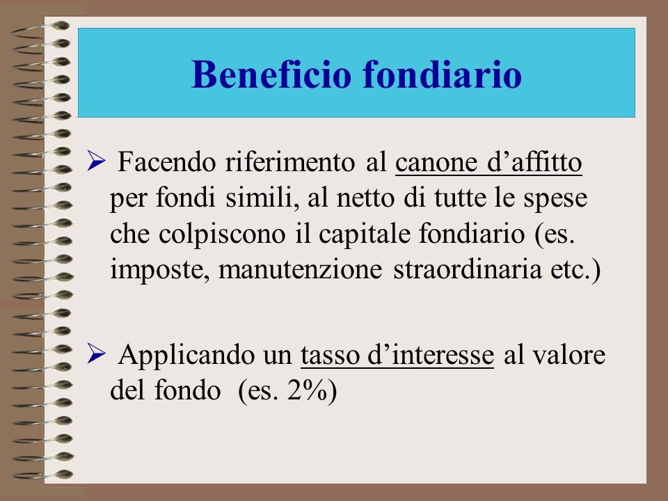 Beneficio fondiario