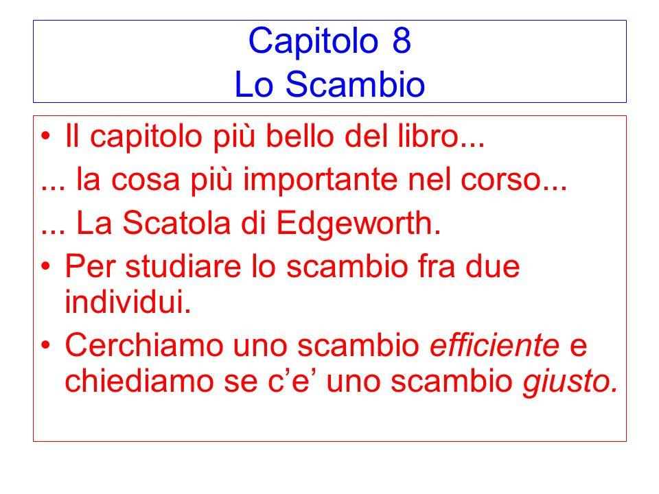 Capitolo 8 Lo Scambio Il capitolo più bello del libro...