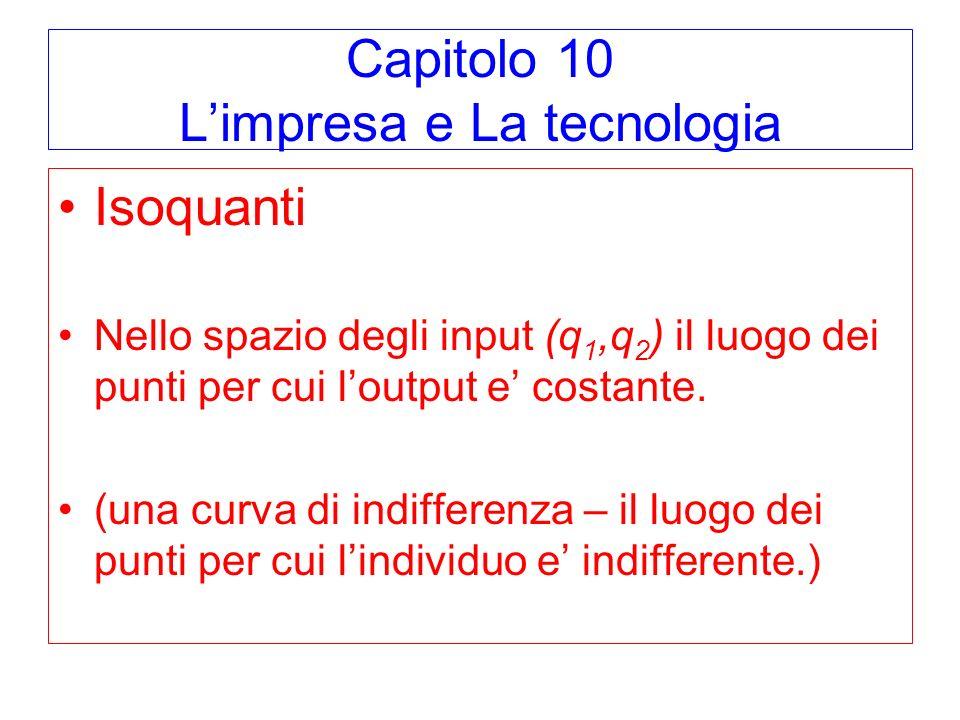Capitolo 10 L'impresa e La tecnologia