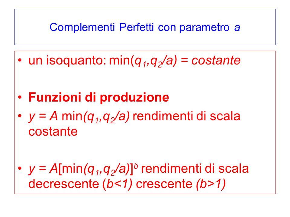 Complementi Perfetti con parametro a