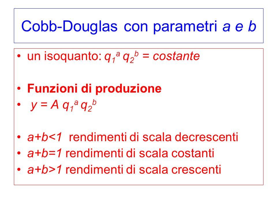 Cobb-Douglas con parametri a e b