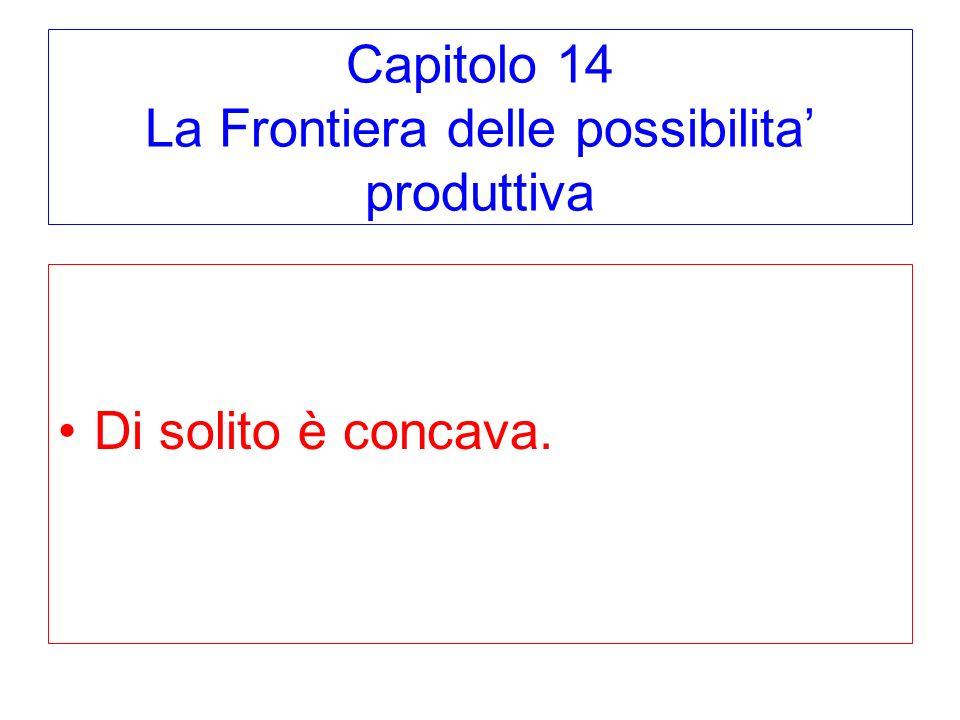 Capitolo 14 La Frontiera delle possibilita' produttiva