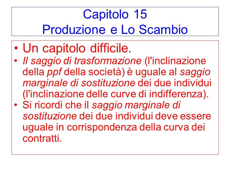 Capitolo 15 Produzione e Lo Scambio
