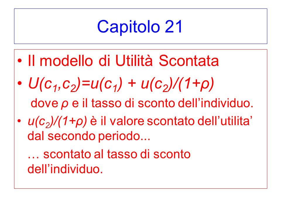 Capitolo 21 Il modello di Utilità Scontata