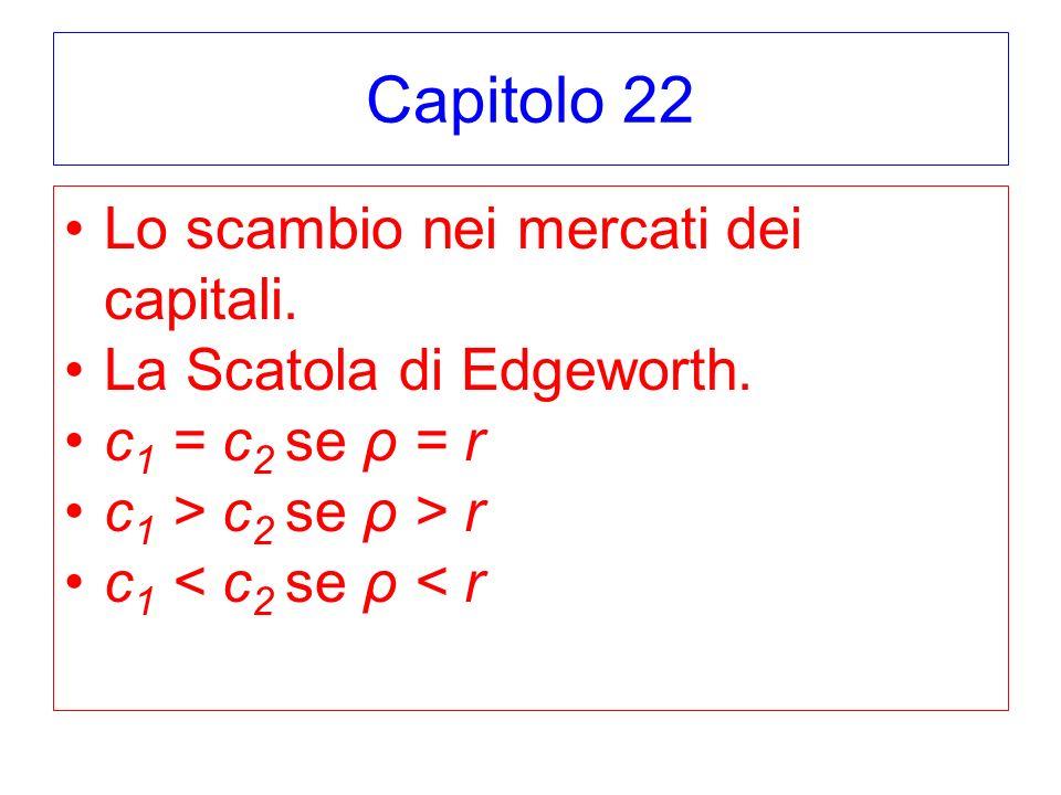 Capitolo 22 Lo scambio nei mercati dei capitali.