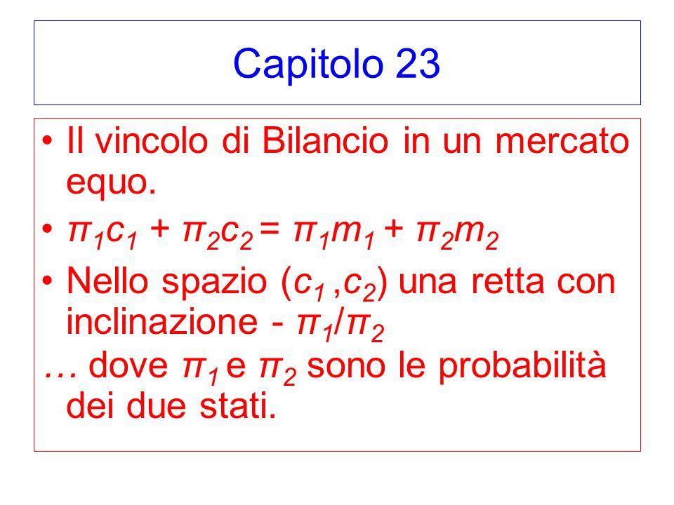 Capitolo 23 Il vincolo di Bilancio in un mercato equo.