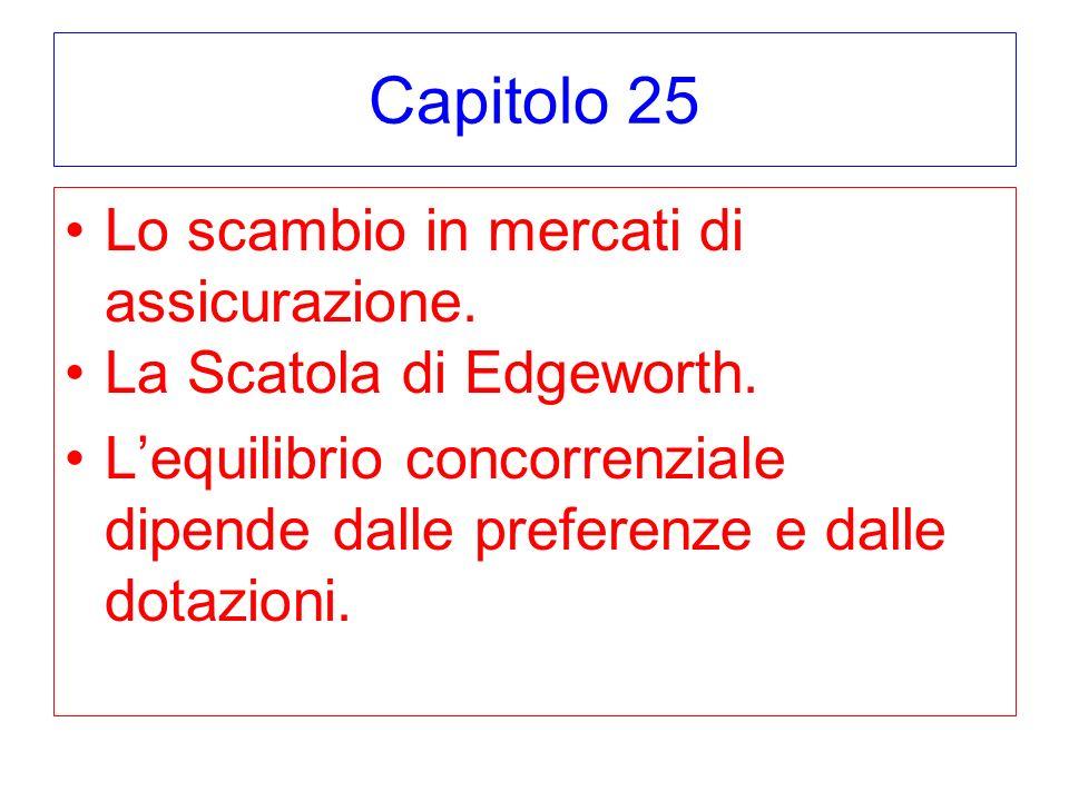 Capitolo 25 Lo scambio in mercati di assicurazione.