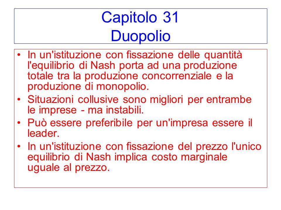 Capitolo 31 Duopolio