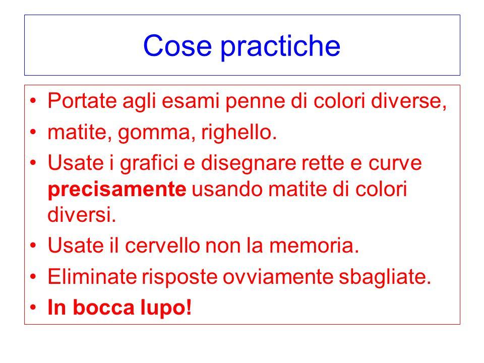 Cose practiche Portate agli esami penne di colori diverse,